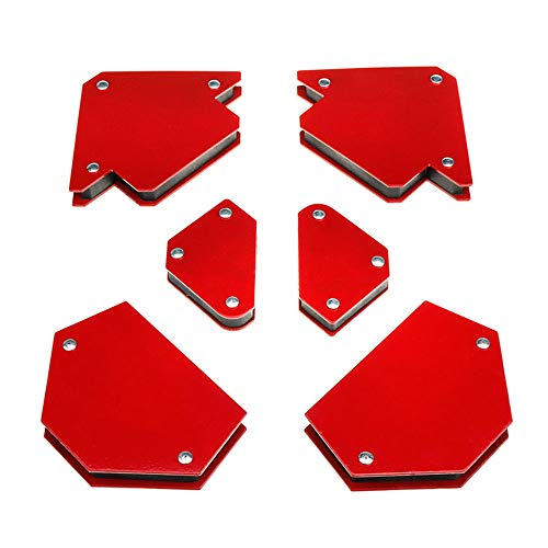 6 imanes de soldadura, soporte magnético, posicionador magnético de soldadura ángulo 30°, 45°, 60°, 90°, 135°