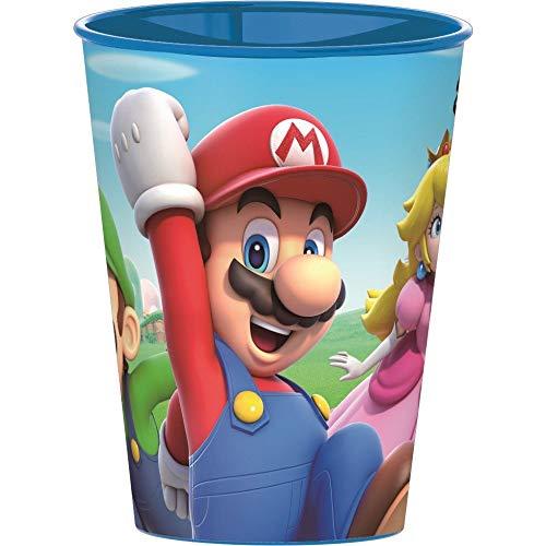 Familienkalender Super Mario Becher Tasse Trinkbecher Becher, kompatibel zu Nintendo 250 ml | Luigi | Peaches | Geschenk | Kind | Mädchen | Jungen | BPA frei (2 Becher)