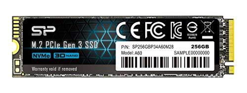 シリコンパワー SSD 256GB 3D TLC NAND M.2 2280 PCIe3.0×4 NVMe1.3 P34A60シリーズ 5年保証 SP256GBP34A60M28
