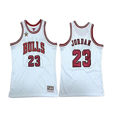 GFQTTY Camisetas De Baloncesto De La NBA Chicago Bulls # 23 Camisetas De Baloncesto Chaleco Transpirable con Bordado Retro, Camisetas Sin Mangas De Baloncesto Swingman