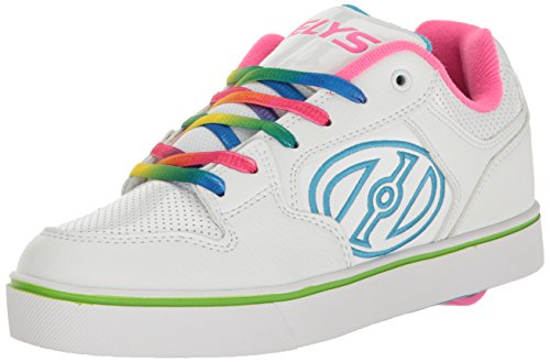Heelys Motion Plus, Zapatillas Unisex Adulto, (White/Rainbow), 36.5 EU