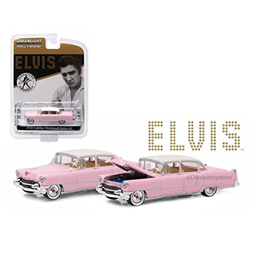 Greenlight New 1:64 Hollywood Series 14 Collection - Elvis Presley - PINK 1955 Cadillac Fleetwood Series 60 Diecast Model Car by by