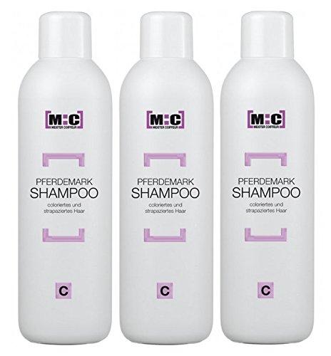 Meister Coiffeur Pferdemark Shampoo C 3 x 1000 ml für coloriertes und strapaziertes Haar von M:C
