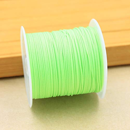 luffybin: 25Yards/roll Rope Satin Rattail Polyester Nylon Cords/String Chinese Knot Cord DIY Clothing Package Bracelet Jewelry Findings