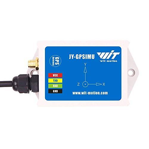 WitMotion WTGAHRS1 Inclinómetro IMU AHRS de 10 ejes de alta estabilidad, aceleración+giro+ángulo+imán+presión de aire+GPS,nivel TTL, rastreador de posición de navegación de bajo consumo con an
