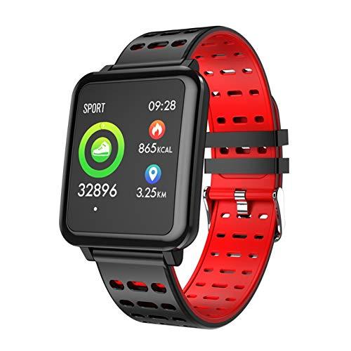 QTEC Smart horloge Nieuwe Rode Smart Armband Kleur Scherm Oefening Stap tellen Hartslag Calorie Voor Sport Horloges Mens Klok Timer Waterdicht