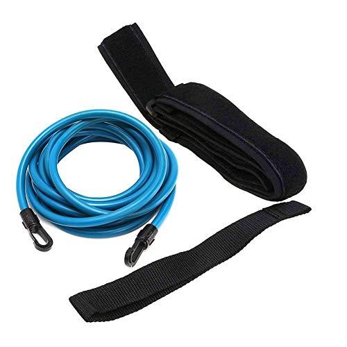 Brownrolly Zuverlässiger Schwimm-Bungee-Trainingsgürtel, Schwimmen Stationärer Widerstand Sichere Leinen-Trainingsgerät mit Drag-Fallschirm-Elastikgurt für Kinder, Erwachsene