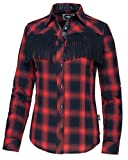 Westernwear-Shop Stars & Stripes Damen Fransenbluse Trinity Edition Damen Westernhemd Westernkleidung Westernshirt Westernoberteil Westernoutfitfür Frauen Rot (3XL)