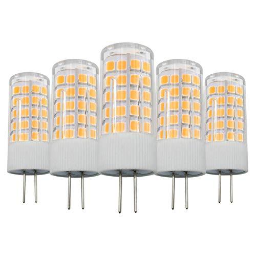 G4 LED 12V 4W warm wit 3000K lampen Vervangt 40W halogeen niet dimbaar, G4 Bi-Pin fitting gloeilamp voor afzuigkappen, 5-pack [meerweg]