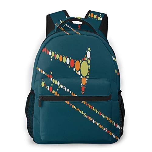 Rucksack Männer und Damen, Laptop Rucksäcke für 14 Zoll Notebook, Posaune Kinderrucksack Schulrucksack Daypack für Herren Frauen