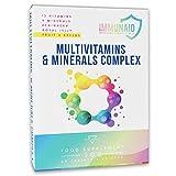 MULTIVITAMINICO IMMUNAID® - 60 Compresse | Multivitaminico | Difese Immunitarie | Integratore Multivitaminico, Multiminerale con 13 Vitamine e 9 Minerali, Echinacea, Pappa Reale e Fruit & Greens