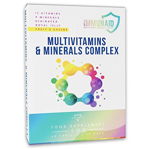MULTIVITAMINICO IMMUNAID® - 60 Compresse | Multivitaminico | Difese Immunitarie | Integratore Multivitaminico, Multiminerale co