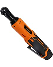 """VonHaus Cordless Electric Ratchet Wrench Set with 12V Lithium-Ion Battery and Charger Kit 3/8"""" Drive"""