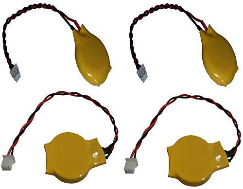 PKCELL 4 x CMOS (2 x 2 poliger und 2 x 3 poliger Stecker) 3V CR2032 EINWEG Markenware FBA