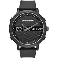 Skechers Men's Lawndale Quartz Metal and Silicone Analog Digital Watch