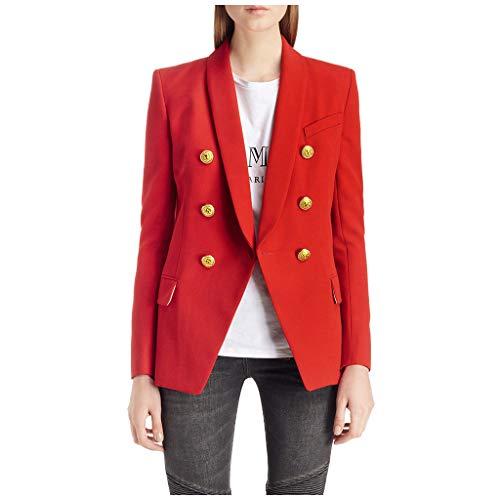 Great Price! Dainzuy Women's Casual Work Office Lapel Pocket Buttons Down Blazer Suit Jacket Long Sl...