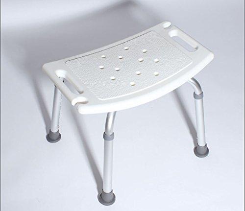 Bathroom Stools LI Jing Shop - Taburete de baño Ducha de Aluminio Asiento Cama Antideslizante Silla de baño Ajustable con Brazos ⭐