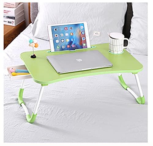 Niguleser Ordenador Portátil Multifunción Lap Desk, Bandeja para Servir el Desayuno, Soporte para portátil, Mesa Estable portátil,con Ranura para Tazas