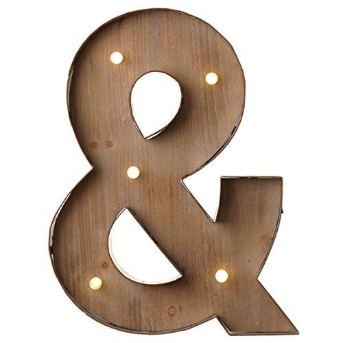 Holz-Metall Buchstaben beleuchtet, warmweißes LED Licht