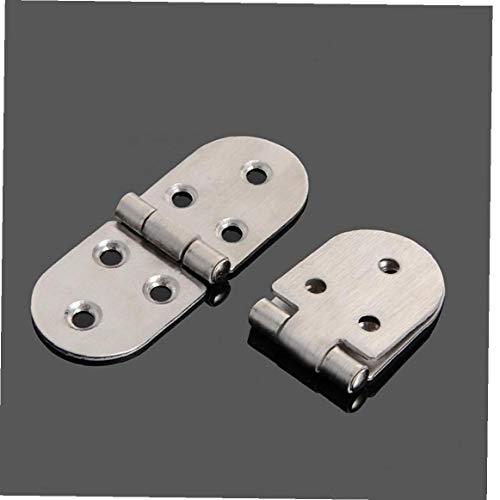 180 Las Bisagras De Acero De Grado Superior Voltear La Máquina De Coser Mesa Plegable De Plata Inoxidable Muebles Accesorios 1 Pc