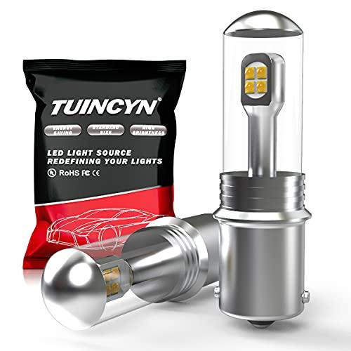 TUINCYN CREE 8 SMD Ampoules LED Puce 7506 1156 BA15S P21W 1141 1095 1073 Ampoules de clignotant de 1 500 lumenss Lumière de frein Feu arrière inversé Blanc 6000K (Lot de 2)