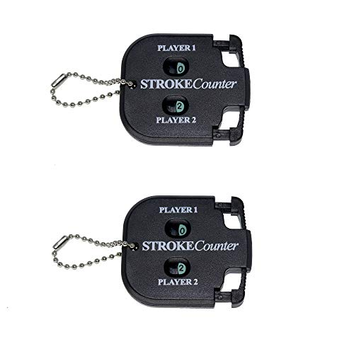 QHALEN Mini Score Counter Golf Stroke Shot Putt Tally Keeper Number with Key Chain (2pcs)
