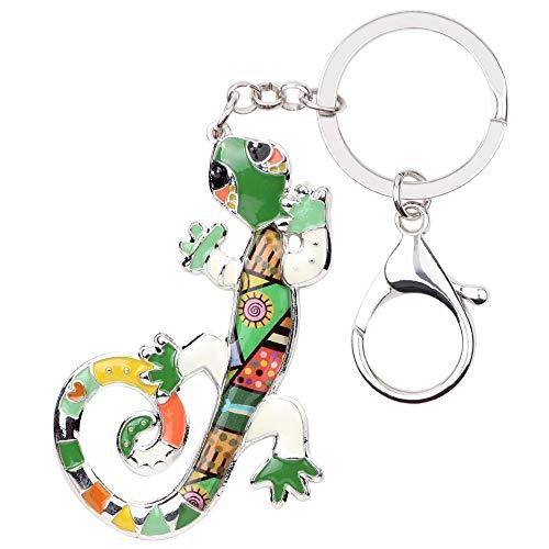 Yasiku Schlüsselanhänger Emaille Metall Eidechse Gecko Schlüsselanhänger Handtasche Charme Schlüsselanhänger Mode Tierschmuck für Frauen