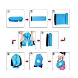 Inflatable Lounger Portable Hammock Air Sofa with Water Proof,Anti-Air Leaking Design,Ideal Inflatable Couch and Beach Chair Camping Accessories for Parties Picnic&Festival, Lazy Bed Air Sofa (blue)