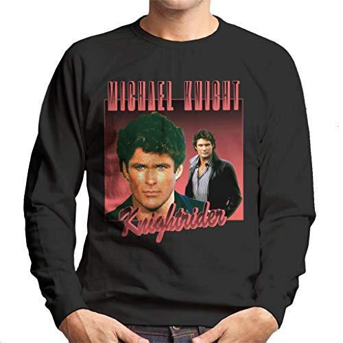 Men's Michael Knight Rider Sweatshirt, Black. S to 2XL