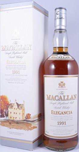 Macallan 1991 12 Years Elegancia Sherry Casks Highland Single Malt Scotch Whisky 40,0% Vol. - alte und seltene Abfüllung eines besonderen Macallan