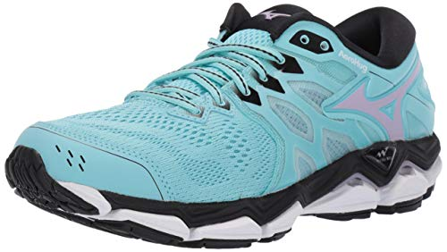 Mizuno Women's Wave Horizon 3 Running Shoe, Angel Blue-Lavender Frost, 7 B US