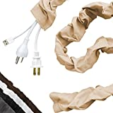 Cordinate Fabric Cord Cover, 6 Ft, Cable Management and Hider, Easy Installation, Great for Lamps, Light Fixtures, and Desks, Champagne, 40730