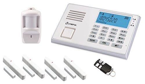 Olympia 5958, Protect 9066 Drahtlose GSM Alarmanlage mit Notruf und Freisprechfunktion, App Steuerung mit ProCom App, weiß