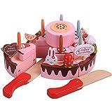 Juguete de Corte de Pastel de Cumpleaños, Juego de Comida de Simulación de Bricolaje Con Velas,...