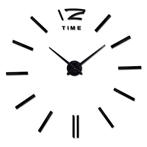 Reloj de pared relojes de reloj, estilo minimalista moderno, pared de arte, pegatinas de espejo de acrílico 3D, a prueba de óxido y duradero, para sala de estar Dormitorio Oficina Hotel Cuarzo Aguja E