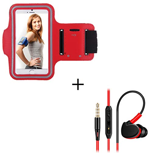 Shot Case Sportarmband für Sony Xperia X Compact, Rot