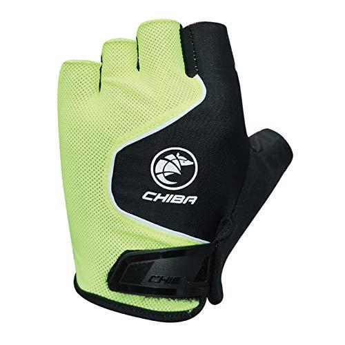 Chiba Cool Air Fahrrad Handschuhe kurz gelb/schwarz 2021: Größe: XXL (11)