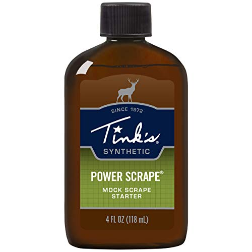Tink's Power Scrape Starter | 4 Oz Bottle | Hunting Accessories, Mock Scrape Starter for Natural or Mock Scrapes | Invader Synthetic Buck Scent Lure, Deer Scents + Attractants for Breeding Season, Brown