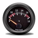 Tacómetro Coche Coche Boost Gauge Bar 2InCH 52mm Escape Gas Temp Turbo Boost Medidor Temp Temper Temp Oleo Temp Oleo Presión PSI Air Galium Combustible Voltmeter 12V Tacómetro (Color : Voltage)