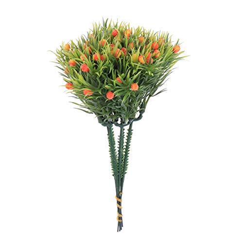6 stücke Simulation Dekorative Ornamente Künstliche Kunststoff Blume Grün Hedyotis Obst Pflanzen (Orange)