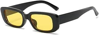 Occhiali da sole rettangolari Occhiali da sole quadrati vintage Occhiali Protezione UV400 Occhiali retrò per donna Uomo