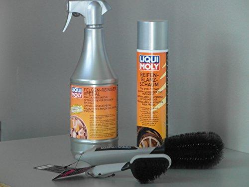 Kit de limpieza para llantas y neumáticos, cepillo limpiador para quad y...