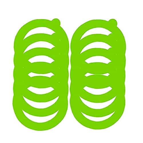 Sanfiyya Tarro de enlatado de Repuesto Junta de Sello de Silicona Anillo hermético Anillo de Sellado a Prueba de Fugas de Mason Tarro de Cristal Clip de la Tapa Canning Verdes 10pcs