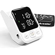 Blood Pressure Monitor by Arealer, Digital BP Machine with Backlit LED Screen & Pulse Rate Monitoring Meter with Upper Arm Cuff 22-40cm, Storesup to 240 Readings, Storage Box and 3AA Included