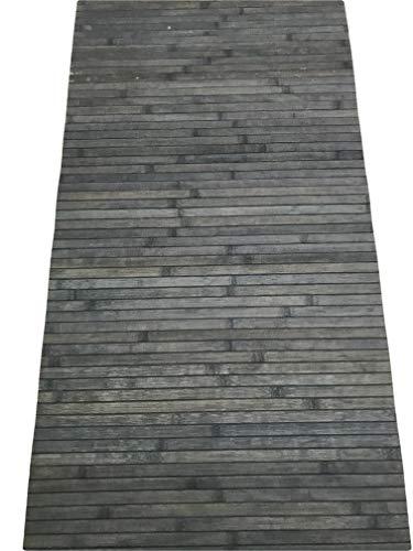 Tappeto bamboo a METRAGGIO vari colori disponibili ANTISCIVOLO (cucina bagnpo camera sauna) (Blue)
