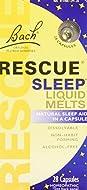 Bach Rescue Sleep Liquid Melts, Dissolvable Capsules 28 ea