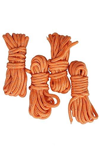 Mountain Warehouse Corde à mèche Refléchissante - nylon résistant, mouches réfléchissantes - Pour définir votre campement par faible éclairage Orange Taille Unique