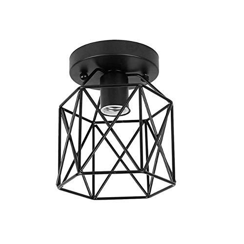 JZTRADING Lampadario Vintage Lampara Colgante Lamparas Colgantes De Techo Accesorios de Luces Colgantes para techos Accesorio de luz Colgante de Techo Black
