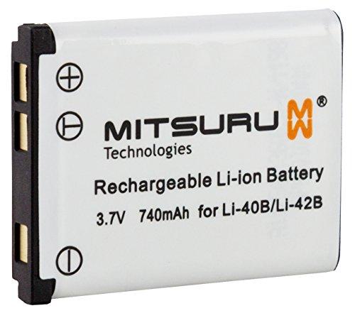 ® Mitsuru-Batería de repuesto para Olympus LI42B y LI-42B, Olympus wide 360 3010 4000 4010 4030 4040 4050 5020 5030 5035 5000, 5500, 5050, D-630 Zoom