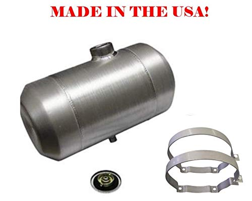 10x16 End Fill Round Spun Aluminum Gas Tank - 5 Gallon - Motorcycle - Tractor Pulling - Ratrod - Dune Buggy - Trike - Baja Bug - 1/4 NPT - Made in the USA!